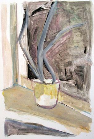Potted Plant on Windowsill, 1997