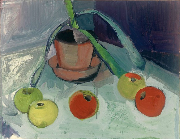 Potted Plant with Apples, 2000