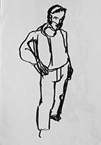 Tadej Tozon, risba, 2000