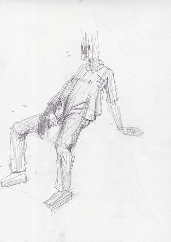 Sedeča figura 2, 2015