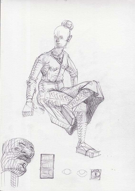 Sedeča figura 3, 2015