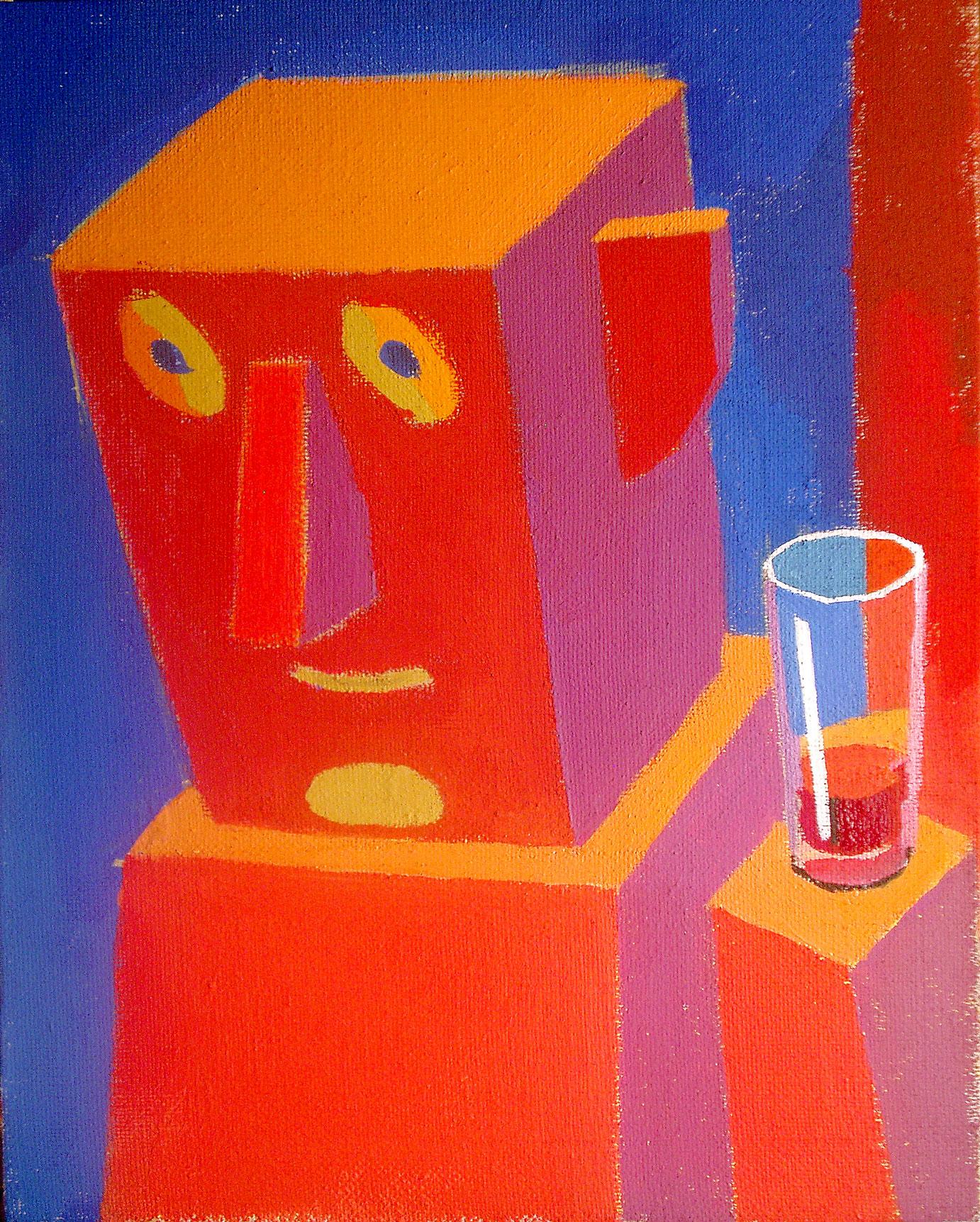 Človek s kozarcem vina, 2010