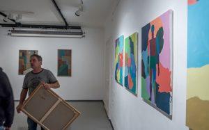 Oil and tempera, Mikado studio and gallery, Ljubljana