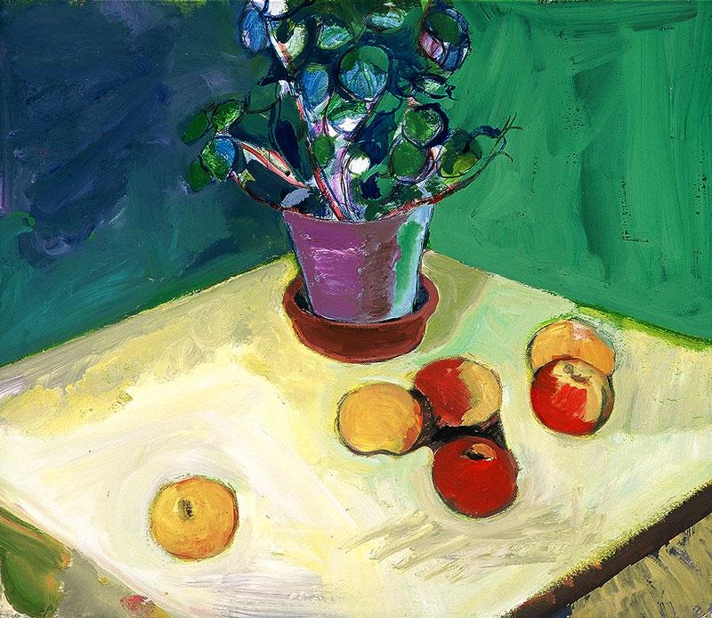 Lončnica z jabolki, 2001
