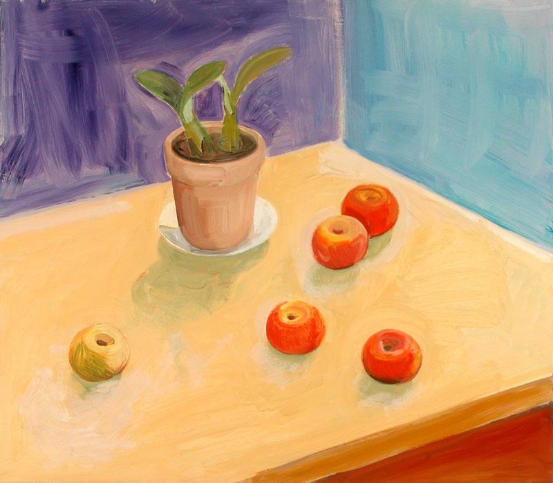 Jabolka in lončnica, 2001