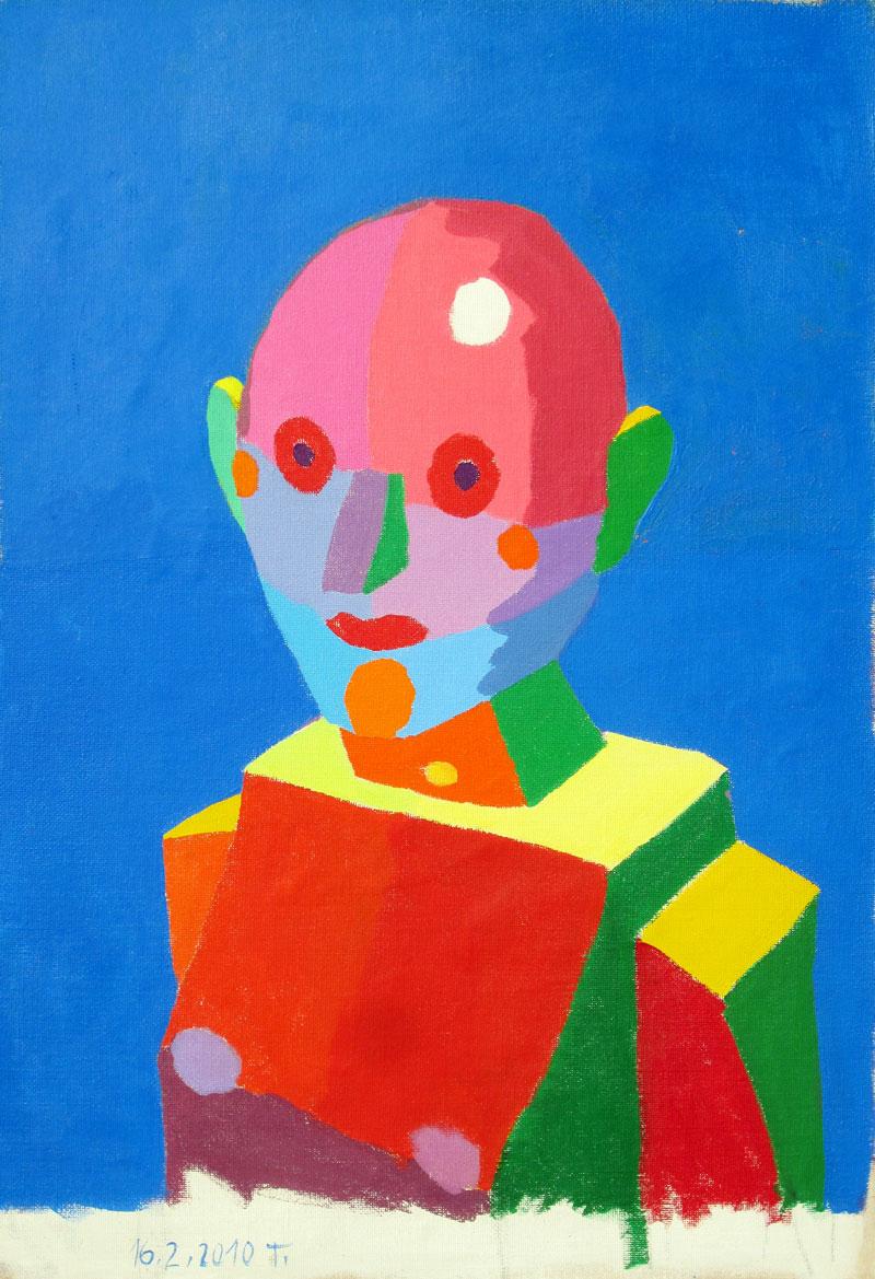 Glava naslikana s čistimi barvami, 2010