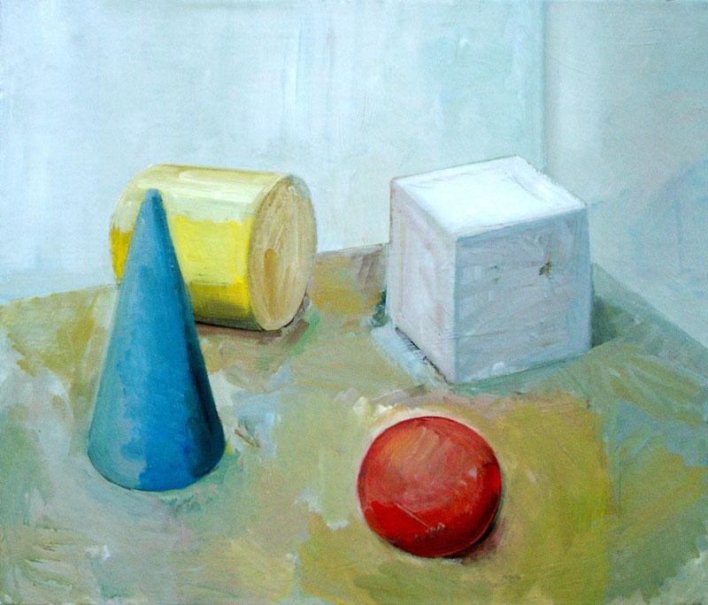 Osnovne barve in osnovna geometrijska telesa, 2002