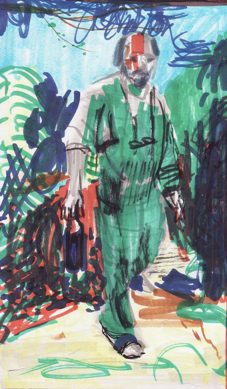 Blaž de Gleria na svojem mlinu, leta 2002, 2018