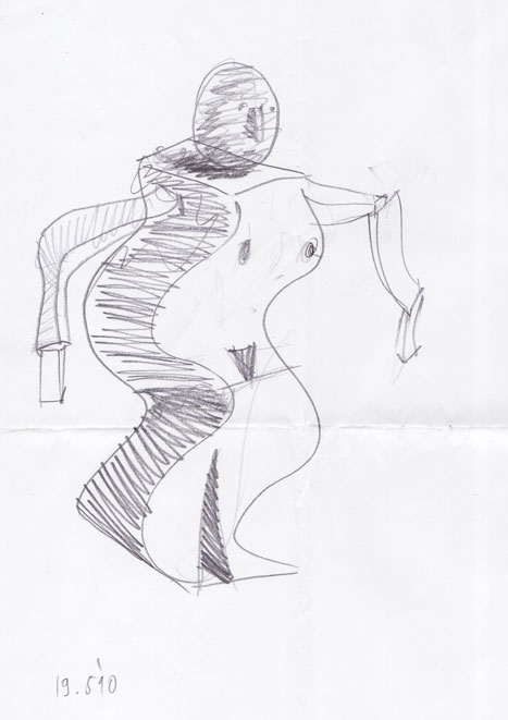 Skica za geometrizirano figuro, 2010