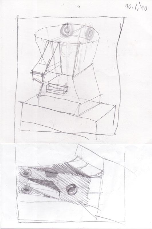 Skica za geometrizirano glavo, 2010
