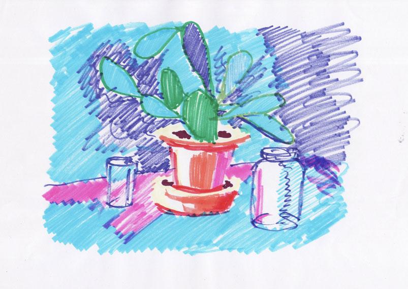 Skica za kaktus 5, 2011