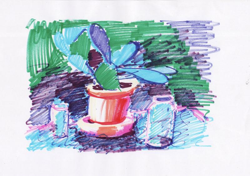 Skica za kaktus 6, 2011