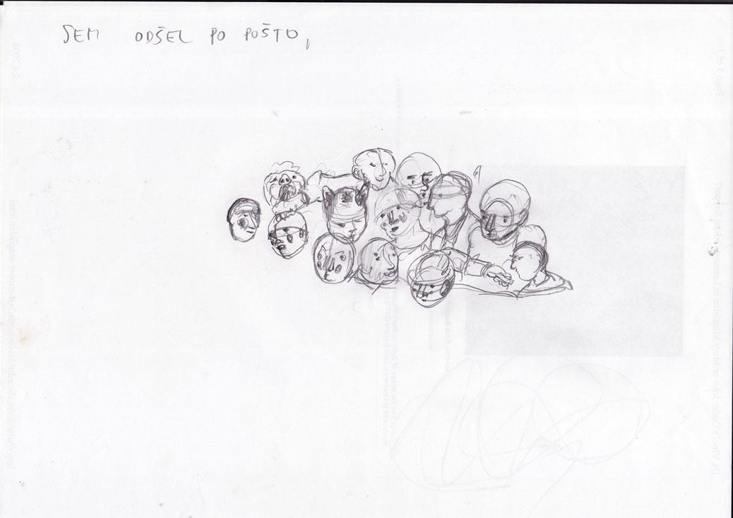 Skica za sliko Množica, 2007
