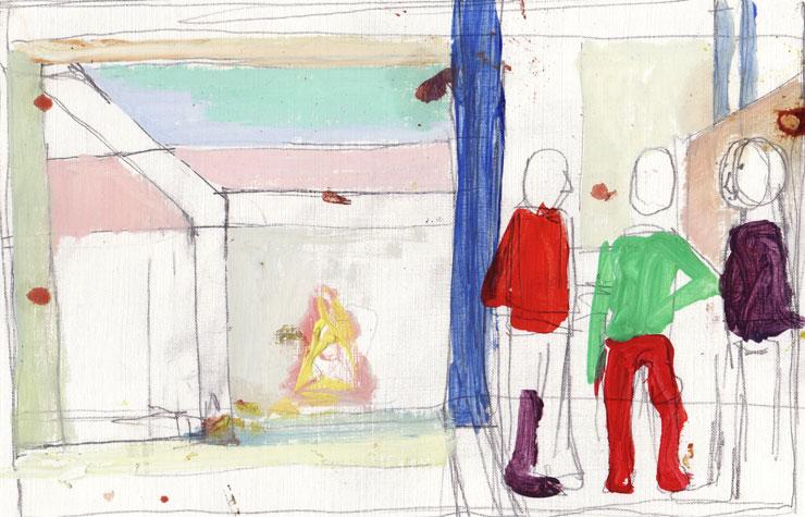 Skica za sliko Bičanje, 2008