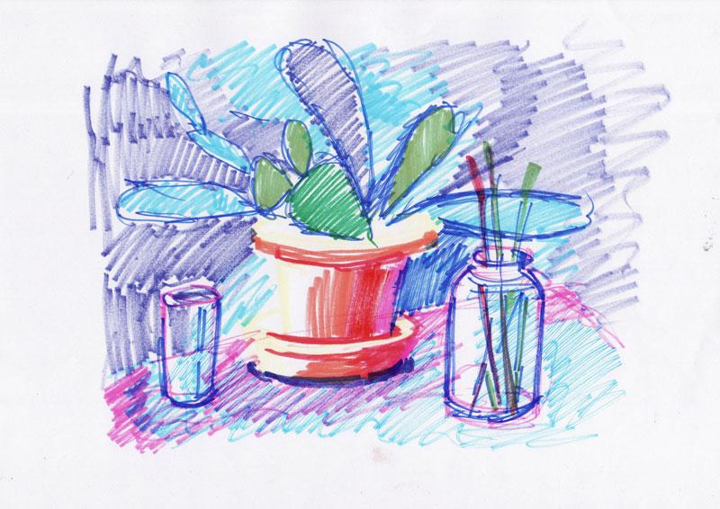 Skica za kaktus 2, 2011