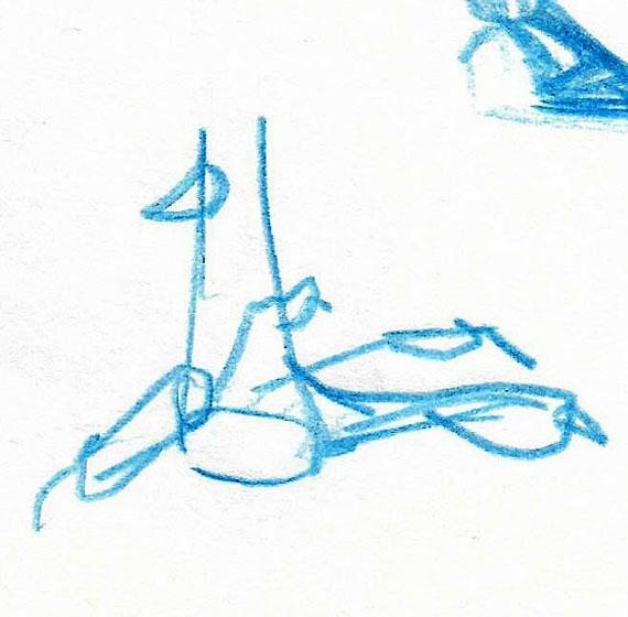 Skica pavjega stopala, oktober 2020